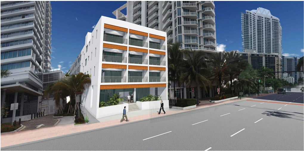 A Five Floor Rear Addition To The Existing Mimosa Hotel In 5500 Collins Ave Miami Beach Will Be Adding 17 Rooms Restaurant And Roof Terrace With